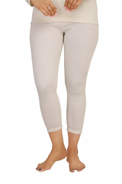 Pure Wool Thermal Bottom- Cream