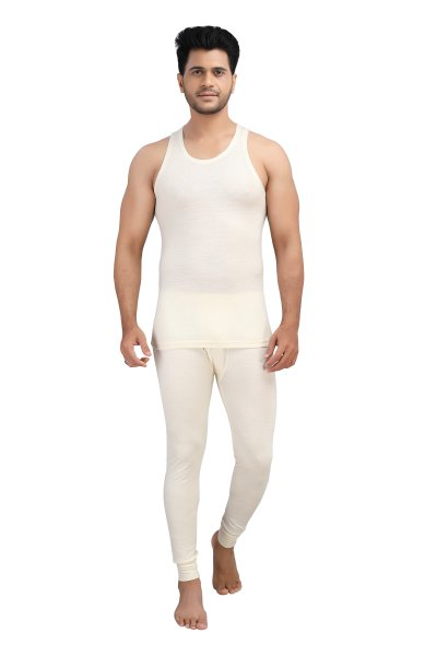 Pure Wool Thermal Top Sleeveless- Cream