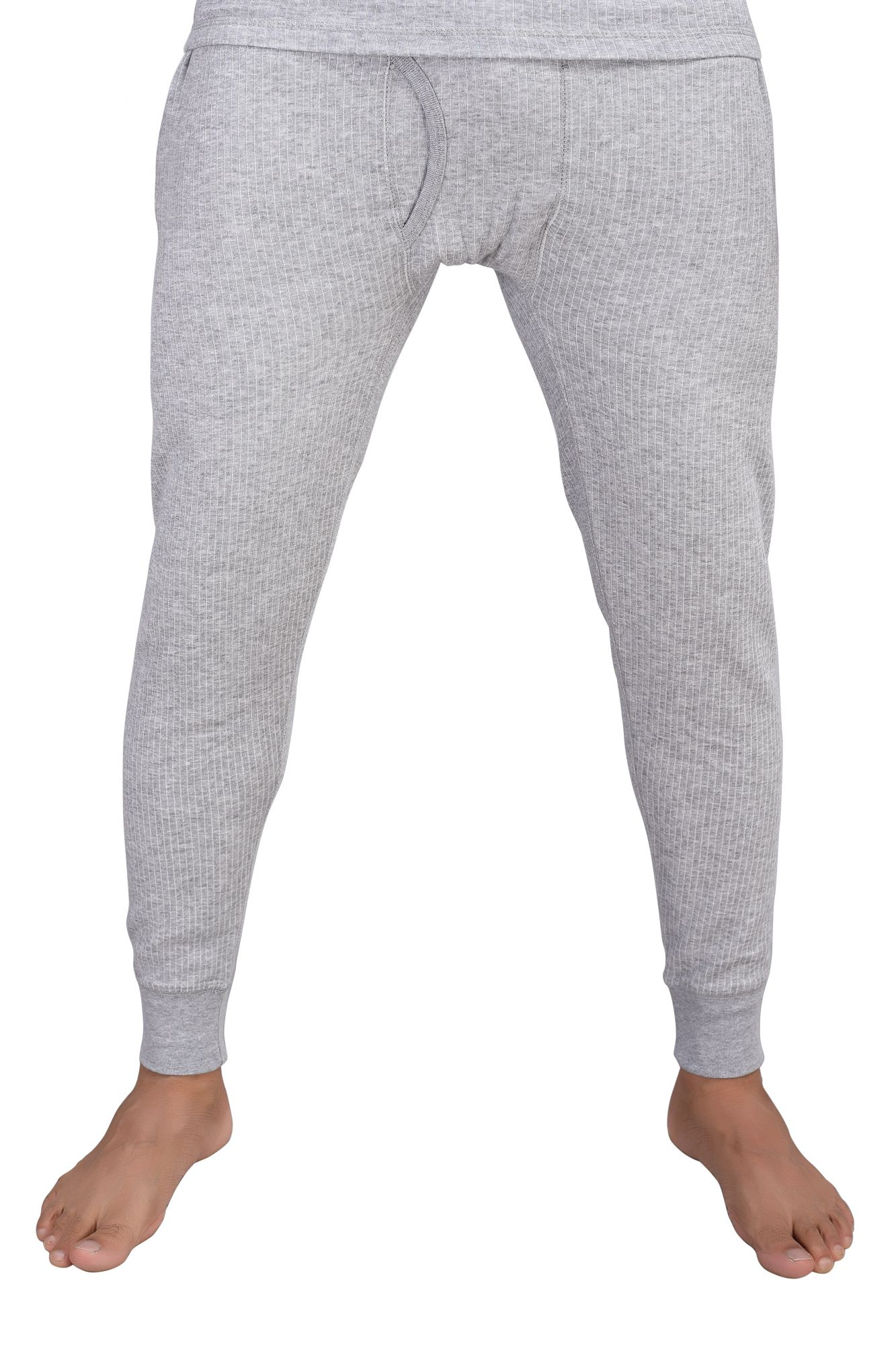 Cotton Quilted Thermal Lower- Grey